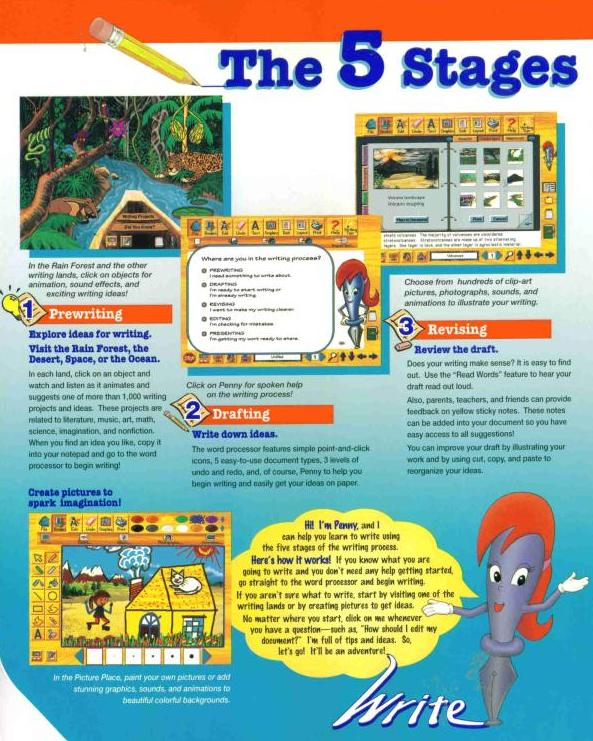 ultimate writing and creativity center Click reading/writing-(grade level) click digital reading textbooks  http:// wwwsunburstcom ultimate writing & creativity center by the learning company.